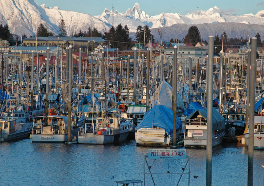 Alaska Harbor, Boats, Cruise ship